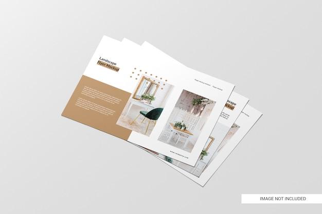 Maqueta de folleto de vista en perspectiva PSD gratuito