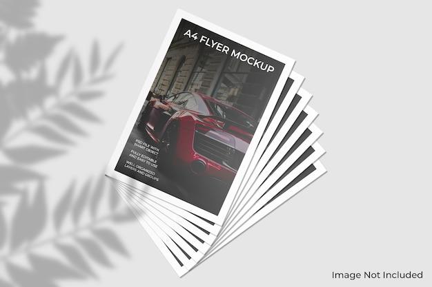 Maqueta de folleto de volante a4 con sombra de hoja PSD Premium