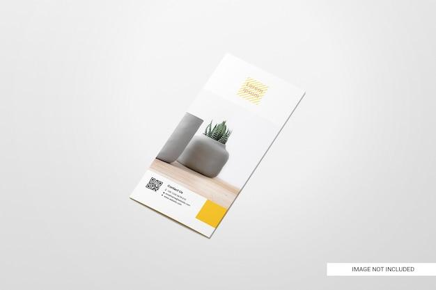 Maqueta de folleto de volante bifold PSD gratuito