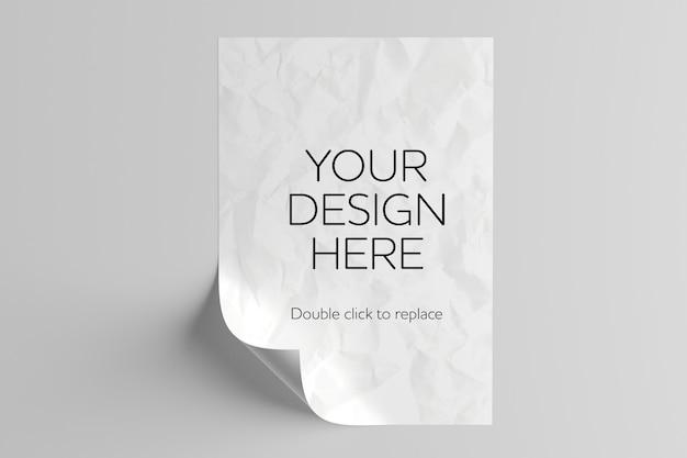 Maqueta de hoja de papel a4 PSD Premium