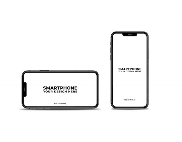 Maqueta limpia de teléfonos inteligentes PSD Premium
