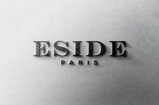 Maqueta de logotipo 3d PSD gratuito