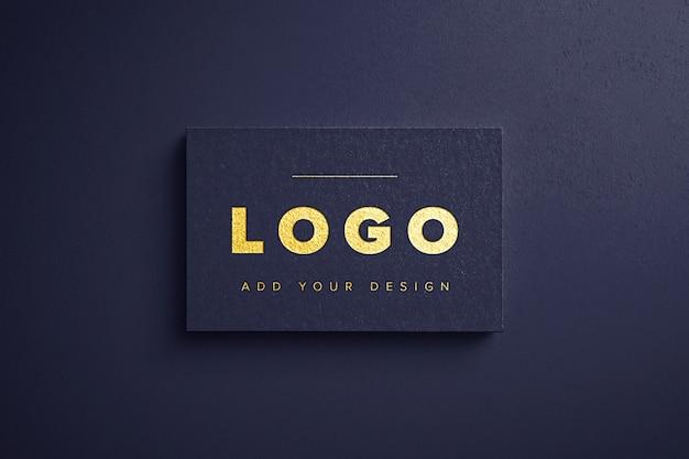 Maqueta de logotipo de lámina de oro PSD gratuito
