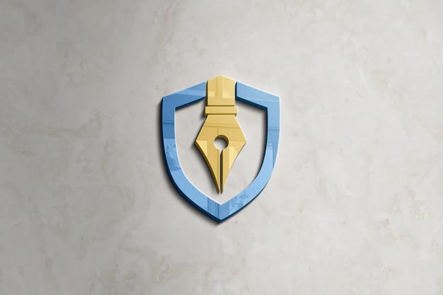Maqueta de logotipo de pared PSD Premium