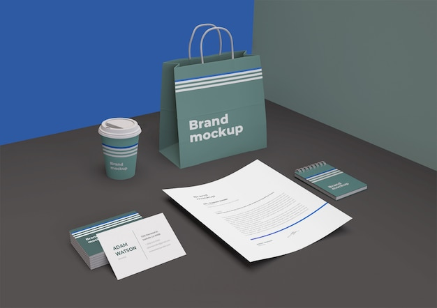 Maqueta de marca PSD Premium