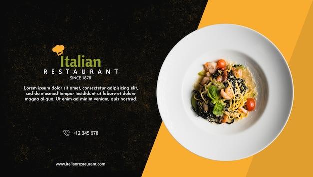 Maqueta de menú de restaurante italiano PSD gratuito