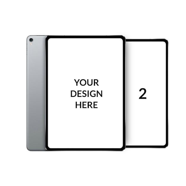 Maqueta moderna de tableta de doble pantalla PSD Premium