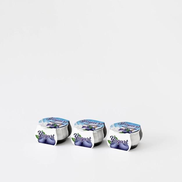 Maqueta de packaging de yogur PSD gratuito