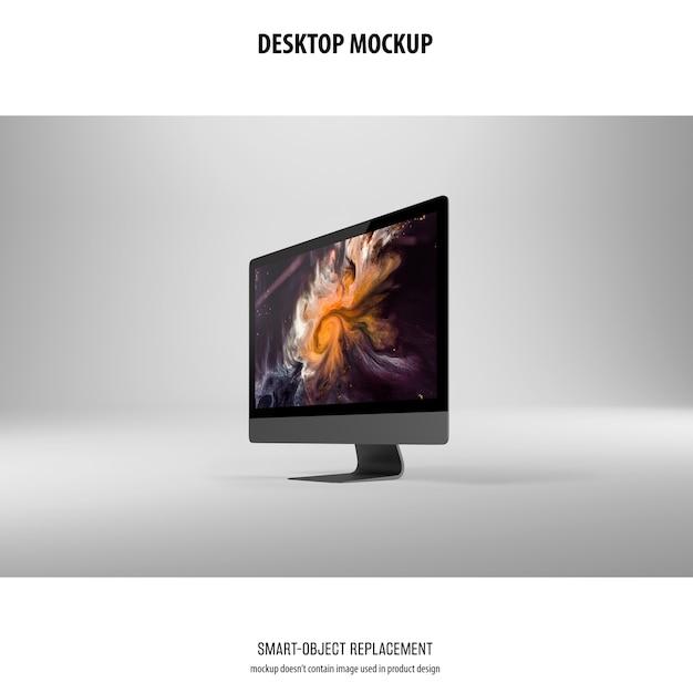 Maqueta de pantalla de escritorio PSD gratuito
