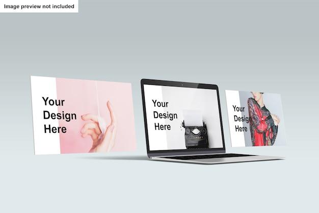 Maqueta de pantalla de laptop PSD gratuito