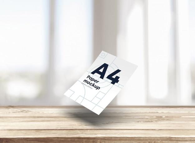 Maqueta de papel a4 PSD gratuito