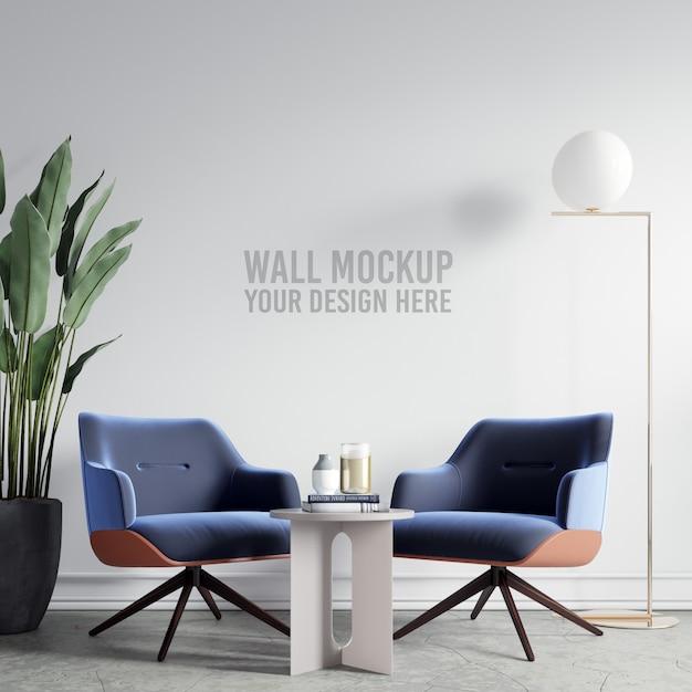 Maqueta de papel tapiz interior PSD Premium