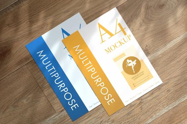 Maqueta de papeles a4 multipropósito PSD gratuito