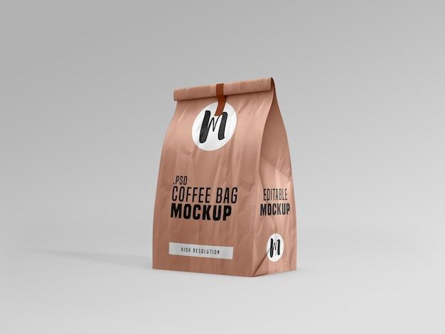 Maqueta de paquete de bolsa de café PSD gratuito