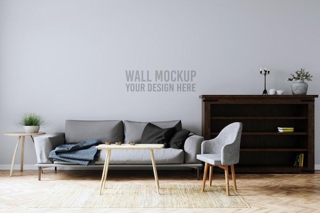 Maqueta de pared interior PSD Premium
