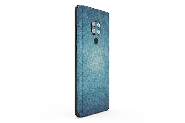 Maqueta de piel de smartphone aislada PSD gratuito