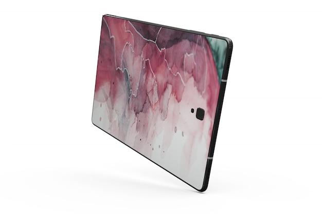Maqueta de piel de tableta aislada PSD gratuito