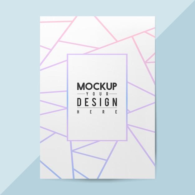 Maqueta de plantilla de folleto de papel en blanco PSD gratuito