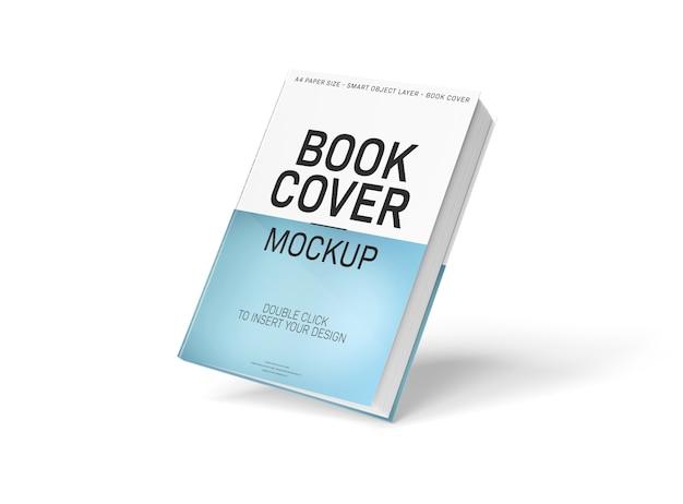 Maqueta de portada de libro a4 en blanco flotante PSD Premium