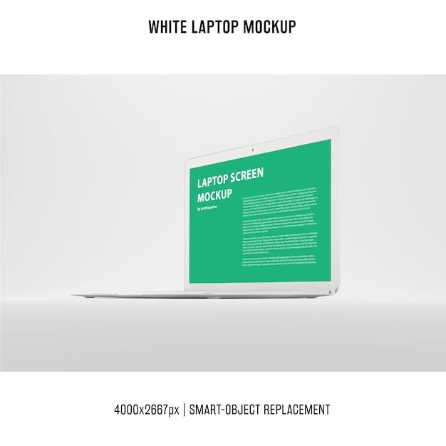 Maqueta de portátil blanco PSD gratuito