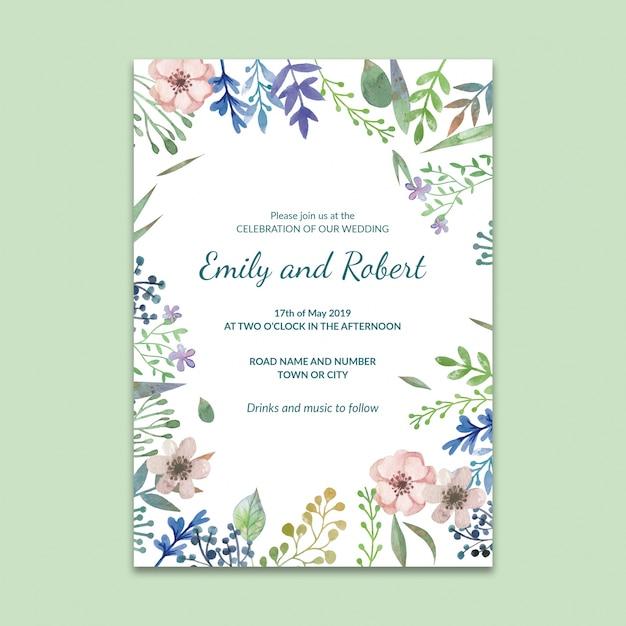 Maqueta de post de red social con concepto de boda PSD gratuito