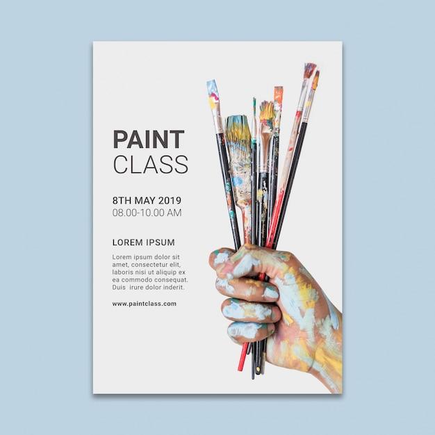 Maqueta de post de red social con concepto de pintura PSD gratuito