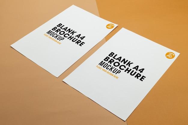 Maqueta de póster en blanco folleto tamaño a4 PSD Premium