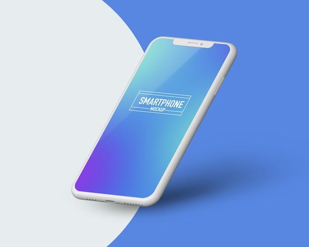 Maqueta realista de teléfono inteligente. maqueta limpia de teléfonos inteligentes PSD Premium