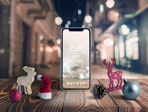 Maqueta scene creator con concepto de navidad PSD gratuito