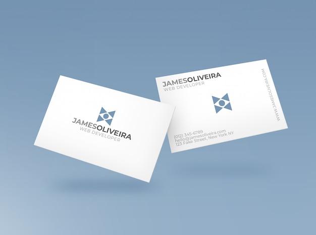 Maqueta de tarjeta de negocios PSD gratuito