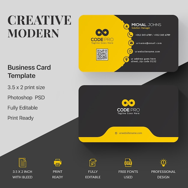 Maqueta de tarjeta profesional PSD gratuito