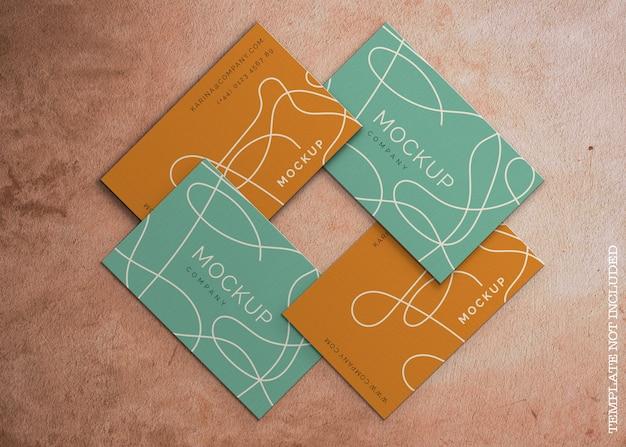 Maqueta de tarjeta de visita abstracta PSD gratuito