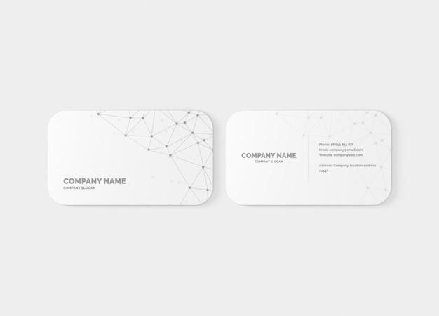 Maqueta de tarjeta de visita de esquina redonda de 10 mm PSD Premium