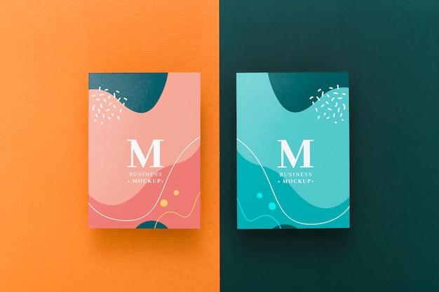 Maqueta de tarjeta de visita minimalista PSD gratuito