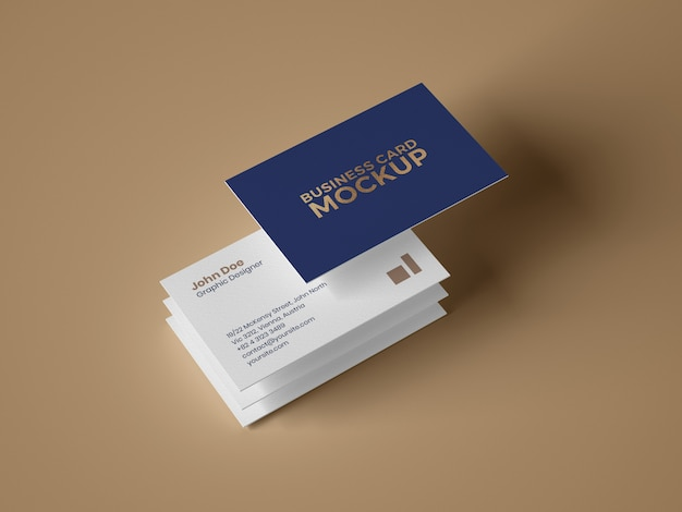 Maqueta de tarjeta de visita PSD Premium