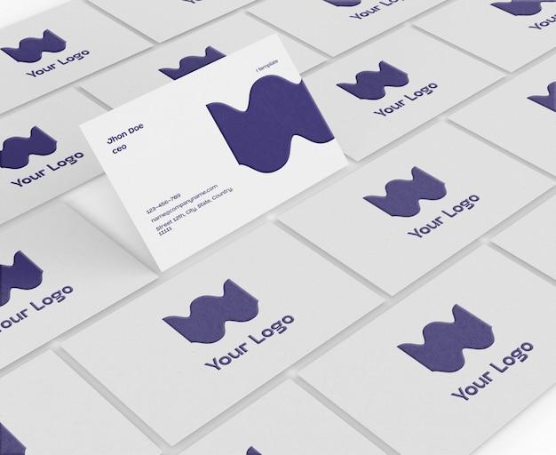 Maqueta de tarjeta de visita PSD gratuito