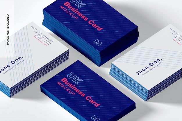 Maqueta de tarjetas de visita del reino unido PSD Premium