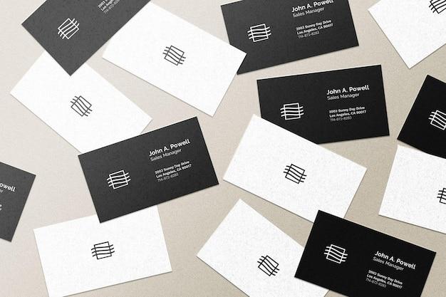Maqueta de tarjetas de visita voladoras PSD gratuito