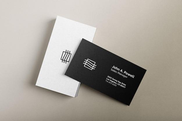Maqueta de tarjetas de visita PSD gratuito