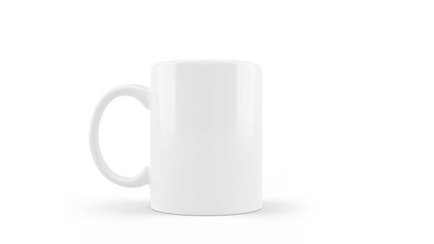 Maqueta de taza de cerámica blanca aislada PSD gratuito