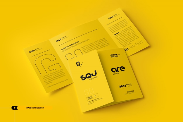 Maqueta triple abierta y cerrada PSD Premium
