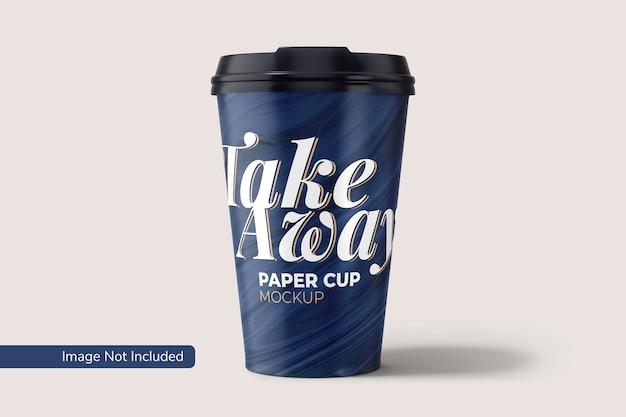 Maqueta de vaso de papel para llevar PSD gratuito