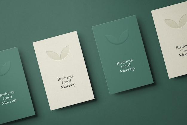 Maqueta vertical de tarjetas de visita PSD Premium
