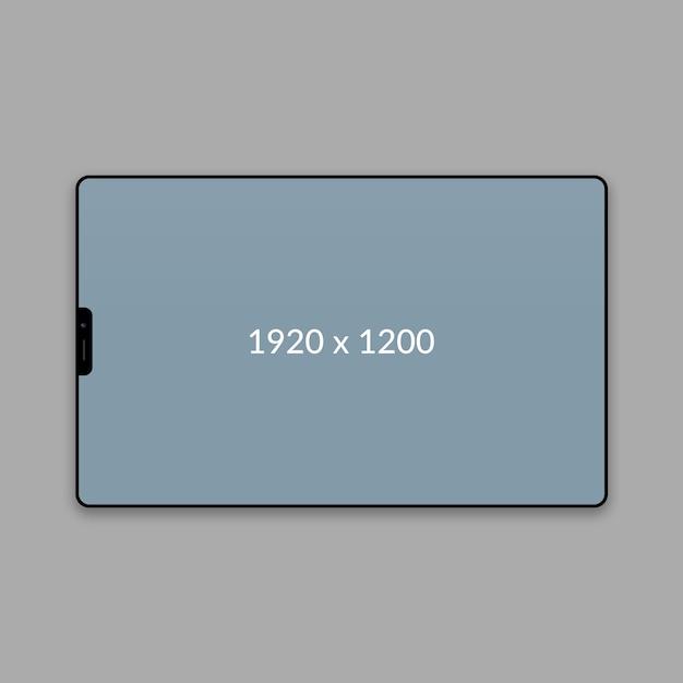 Maqueta web de paisaje mínimo PSD Premium