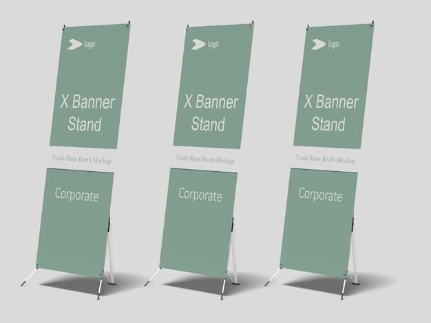 Maqueta de x-banner PSD Premium