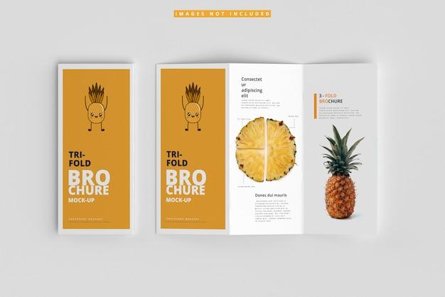 Maquetas de folletos triples PSD Premium