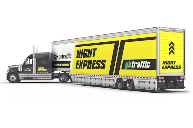 Marca del vehículo maqueta de camiones pesados PSD Premium