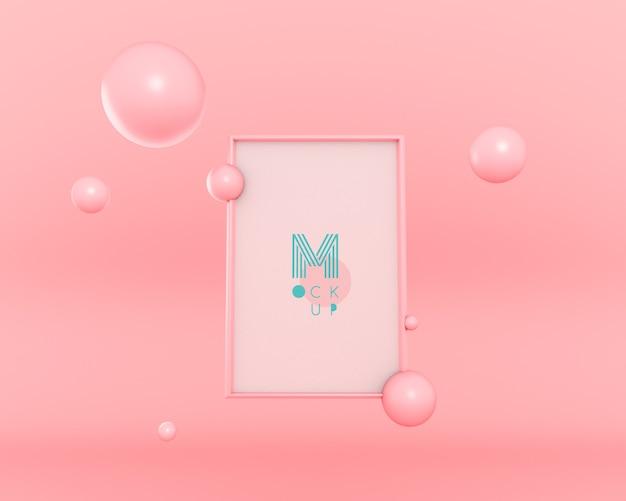 Marco flotante de burbujas 3d PSD gratuito