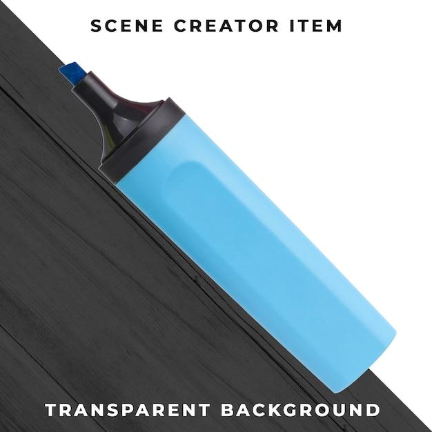 Markeerstiftobject transparant psd Gratis Psd