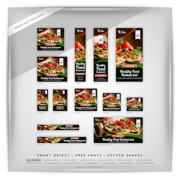 Marketing alimentare google e annunci di facebook Psd Premium